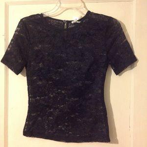 SEEK Black lace top
